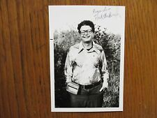 """POUL  ANDERSON(""""The Broken Sword""""(Died in 2001)Signed 3 x 5  Glossy  B & W Photo"""