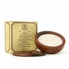Taylor of Old Bond Street Sandalwood Herbal Shaving Soap In Wooden Bowl 100g