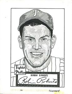 T.S. O'Connell Original Artwork - Pen-and-Ink from Mini-Prints - Robin Roberts