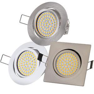Ultraflach Einbaustrahler LED 230V 3,5W Einbauleuchte Einbauspots Spot 350Lm