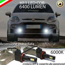 KIT FULL LED FIAT PUNTO EVO LAMPADE H11 FENDINEBBIA CANBUS 6400 LUMEN 6000K