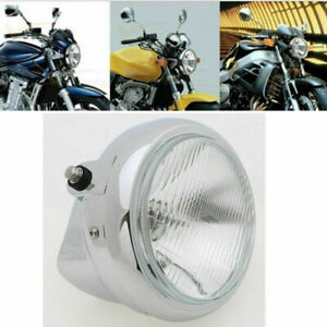 Front Chrome Motorcycle Headlight Head Lamp Assembly Universal for Honda CM125