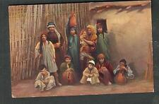 Egypt unmailed post card Family Group at Jericho/Ephtimios Freres Port Said