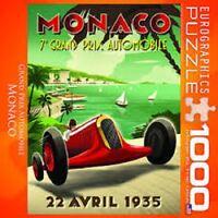 NEW Monaco Grand Prix 1000 piece Jigsaw Puzzle Eurographics Factory Sealed USA.