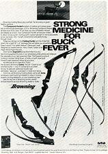 1974 Print Ad Browning Compound & Folding Hunter Explorer & Cobra Bow