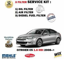 FOR CITROEN C5 1.6 HDi 109BHP 2008->NEW SERVICE KIT OIL AIR FUEL 3 FILTER KIT