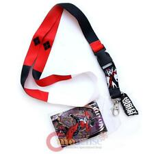 DC Comics Harley Quinn Lanyard Keychain ID Holder with Harley Quinn Charm Dangle