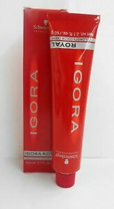 ORIGINAL Packaging SCHWARZKOPF IGORA ROYAL Permanent Hair Color Creme ~ 2.1 oz!!