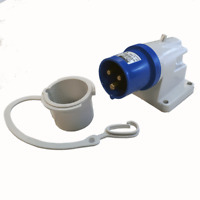 MAYPOLE 240V MAINS HOOK UP SURFACE MOUNTED INLET FOR CAMPERVAN & MOTORHOMES