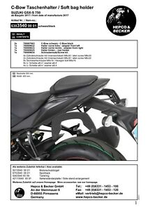 NEW HEPCO AND BECKER C-BOW FRAMES TO FIT SUZUKI GSX-S 750 FROM 2017