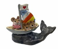 "Wee Forest Folk: ""Wee 3 Land Ho!""  Whale, Collectible, W/ Box, MS-12"