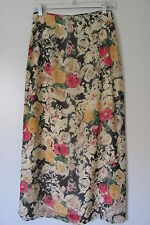 Innocent by La Bamba Multi-Color Floral Full Length Lined Maxi Skirt SIZE:M