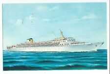 Postcard Home Lines Oceanic Ship Built 1965 Largest Built For Cruises Vpc7.