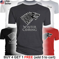 Game of Thrones Stark T-Shirt House Dire Wolf Winter is Coming Direwolf Men GoT