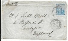 CAPE OF GOOD HOPE 1889 4d RATE COVER TO UK