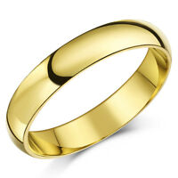 9ct Yellow Gold Ring Wedding Band Solid Heavy Weight Court (Comfort) Shaped