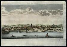 Goa India 1750 Bellin prospect urban view birds-eye print