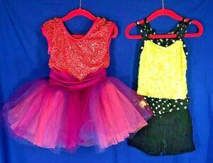 LOT RECITAL Dress-Up TWIST MY HIPS/LET YOUR HEART SING Dance Costumes Sz SC 6/6X