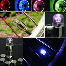 Bicycle Car Wheel Tire Tyre Valve Cap Neon LED Light Waterproof2PCS Multi-Color