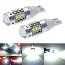 2X T10 W5W High Power Cree 80W LED Backup Reverse Light Bulbs Bright White 6000K