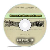 Railway Age Railroad Gazette, American Railroad Life History Newspapers DVD E39