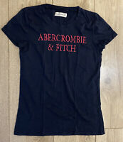Abercrombie & Fitch Women's T Shirt Blue XS Cotton Blend