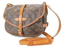 Authentic LOUIS VUITTON Saumur 30 Monogram Crossbody Shoulder Bag Purse #36367