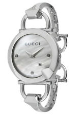 Gucci YA122504 Chiodo Diamond Mother-of-Pearl Dial 122.5 Series Watch $1,295