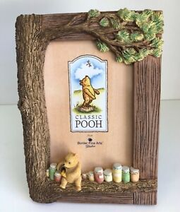 """BNIB CLASSIC POOH PHOTO FRAME A0418 """"SURROUNDED BY WATER"""""""