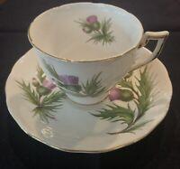 Melba China THISTLE Teacup and Saucer. RARE Bone China England.