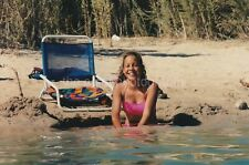 A Young Girl In The Water FOUND PHOTOGRAPH Color FREE SHIPPING Original 94 18 Z