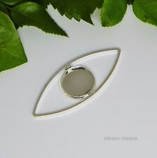 12mm Round Silver Plated Cabochon (Cab) Drop Setting (#A1-52)
