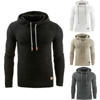 Men's Winter Hoodie Warm Hooded Sweatshirt Coat Jacket Outwear Sweater Slim Tops