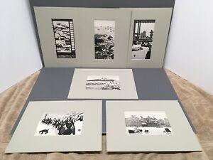 Gihachiro Okuyama 1907-1981 1950's Japanese Woodblock Print - set of SIX prints