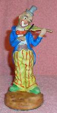 Vintage Porcelain Clown Figurine-Felt on botton, Protect Furinture! Plays Volin