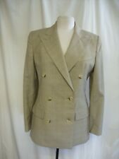"Ladies Suit Jacket Ralph Lauren, size 6, bust 36"", fine green check, wool 7793"