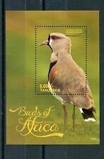 Tanzania 2015 MNH Birds of Africa 1v S/S Crowned Lapwing Stamps