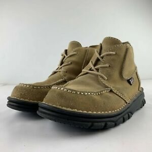 JUSTIN Women 6 M Brown Suede Leather Boot Lace Up Lightweight Casual L0990