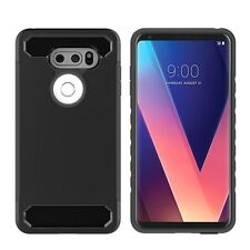 Custodia cover nera SIMPLY RUGGED TPU flessibile per LG V30S V35 ThinQ 6.0""