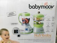 New Babymoov 5-in-1 Baby Food Maker Duo Meal Station,Steamer,Blender,Sterilizes