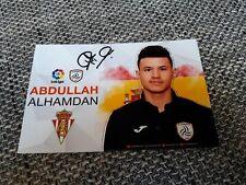 Signiertes Foto Abdullah Alhamadan Al Shabab Riad Sporting Gijon NEU MEGA RAR