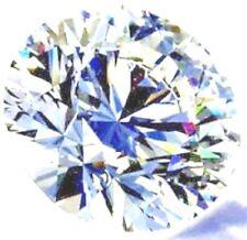 Round 11 mm Fancy 5.5 ct VVS Natural White Sapphire Brilliant Diamond Solitaire
