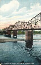 CHIPPEWA FALLS WI – Bridge Crossing the Chippewa River - 1912