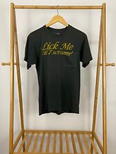 VTG Lick Me Til I Scream Selvedge Pocket Front Black Single Stitch T-Shirt M USA
