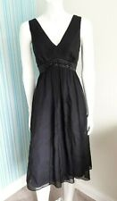 Monsoon Black Silk Dress Size 10, Formal, Cocktail Party, Cruise, Event