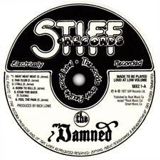 "THE DAMNED STIFF RECORDS VINYL STICKER  100MM ROUND 4"" PUNK .. BUY 2 GET 1 FREE"