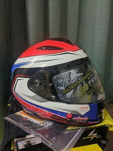 Scorpion EXO-T510 Size XS 53-54cm Tarmac Red Blue Helmet DOT