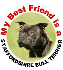 2 Staffordshire Bull Terrier Car Stickers By Starprint - Auto combined postage