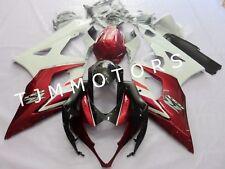 For SUZUKI GSXR1000 2005 2006 ABS Injection Mold Bodywork Fairing Kit White Red