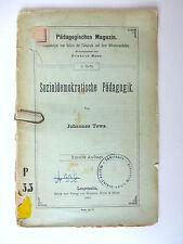 Broschüre Sozialdemokratische Pädagogik von Johannes Tews 1894  B-1145